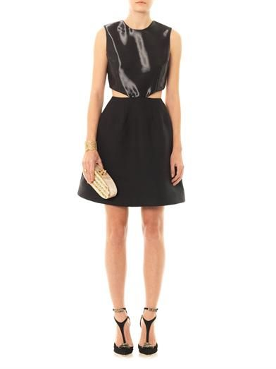 Honor Liquid sateen cut-out dress