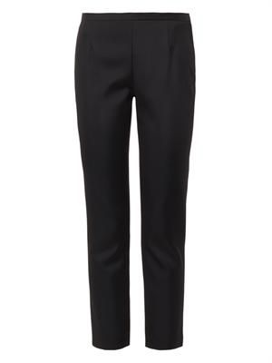 Satin-canvas skinny trousers