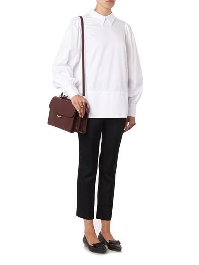 Honor Satin-canvas skinny trousers