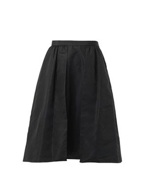 Silk-faille A-line skirt