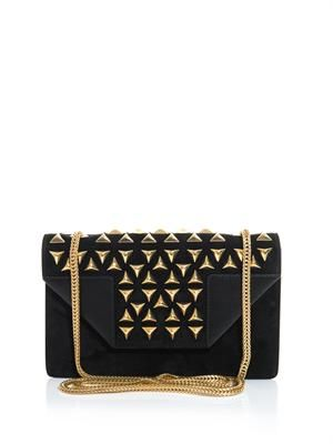 Betty studded suede shoulder bag