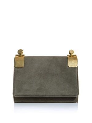 Clara suede shoulder bag
