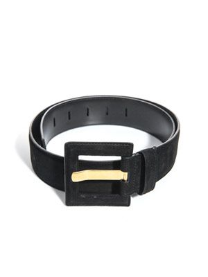 Big buckle suede belt