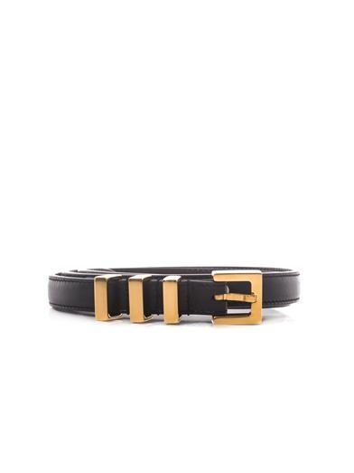 Saint Laurent Classic 3 Passants skinny belt