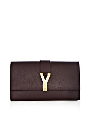 Chyc grained-leather clutch