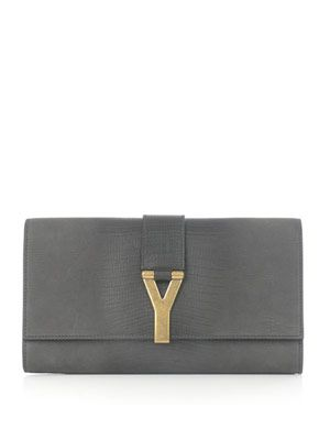 Chyc lizard-embossed clutch