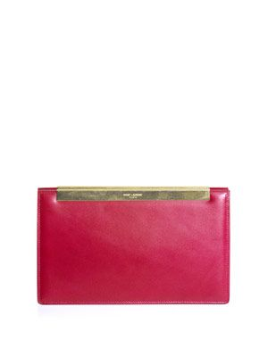 Lutetia leather clutch