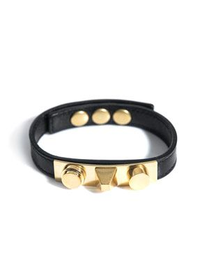 Unique-stud leather bracelet