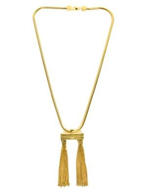 Opium double tassel necklace