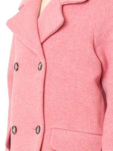 Ymc Double-breasted wool-blend coat