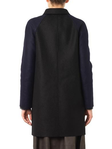Ymc Harris Wharf bi-colour coat