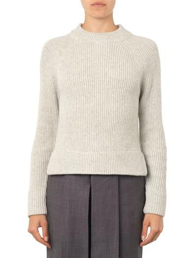 Ymc Ribbed-knit wool sweater
