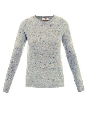 Sherwood melange-knit sweater