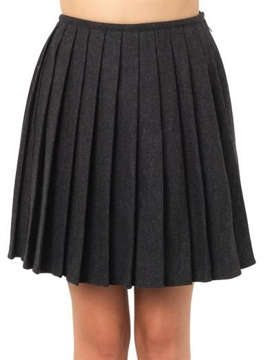 Ymc Pippa pleated wool skirt