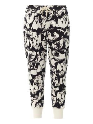 Palm print track pants