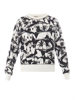 X Natasha Khan palm-print sweatshirt