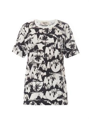 X Natasha Khan palm-print T-shirt