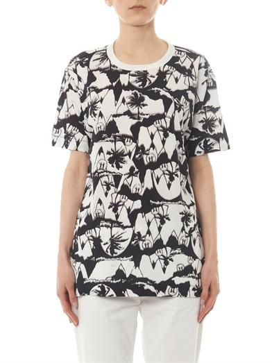 Ymc X Natasha Khan palm-print T-shirt