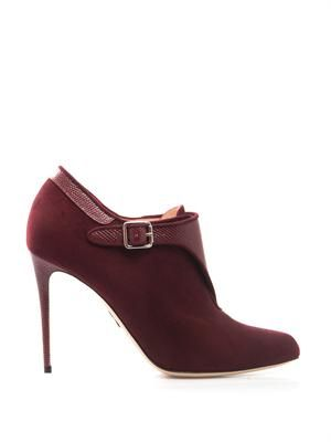 Monaco leather and suede ankle boots