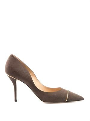 Benaki metal-piped leather pumps
