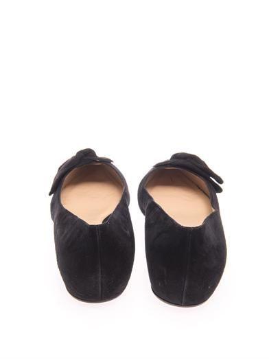 Paul Andrew Corsage suede flat shoes