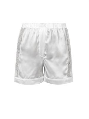 Scott lace-panel silk pyjama shorts