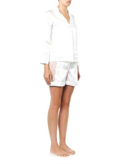 Raphaëlla Riboud Scott lace-panel silk pyjama shorts