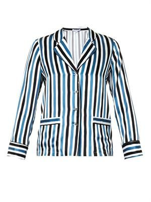 Georges striped silk pyjama top