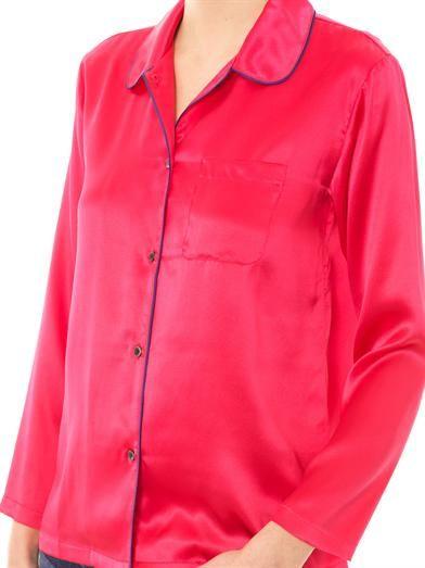 Raphaëlla Riboud Sissi silk-satin pyjama blouse