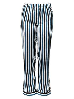 Frantz striped silk pyjama trousers