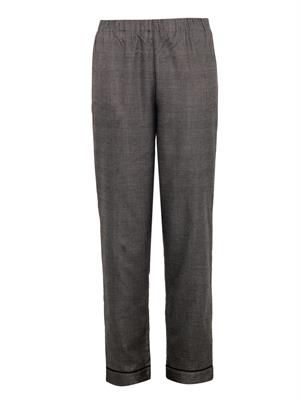 Alfred checked silk pyjama trousers