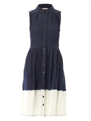 Dip-dye denim dress