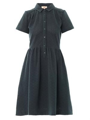Broderie-anglaise cotton dress