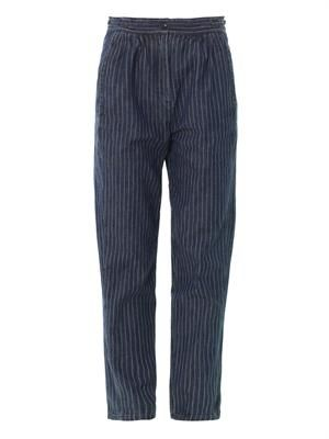 Relaxed striped trousers