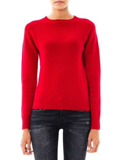 Ymc Crew-neck cashmere-wool sweater