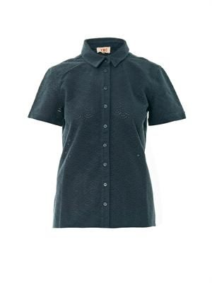 Broderie-anglaise cotton shirt