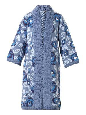 TAK.ORI Floral intarsia-knit coat
