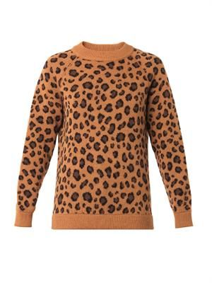 TAK.ORI Cortina leopard knit sweater