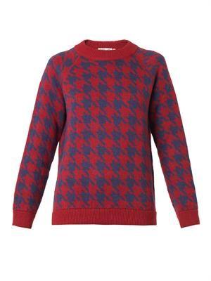 Cortina hound's-tooth knit sweater
