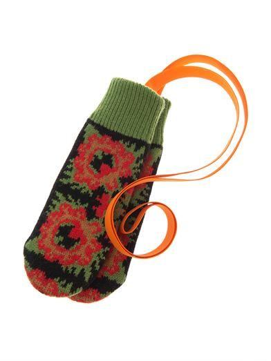 Tak.Ori Glowes flower knit mittens