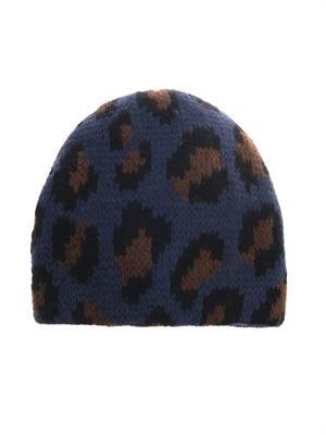 Cortina leopard knit beanie