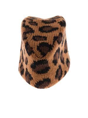 Piccolo leopard knit fez hat