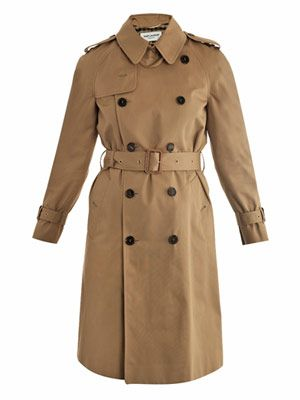 Gabardine double-breasted trench-coat