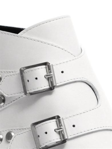 Saint Laurent Rock double-buckle leather ankle boots