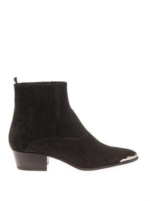 Duckies western suede boots