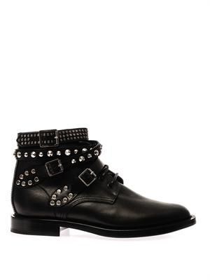 Rangers studded leather boots