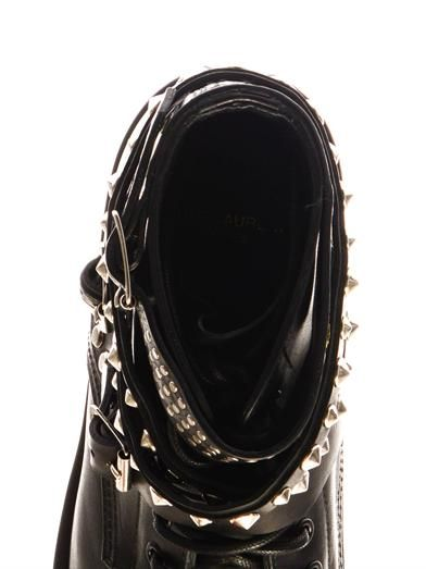 Saint Laurent Rangers studded leather boots