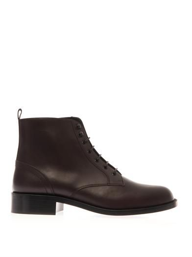 Saint Laurent Patti lace-up leather boots