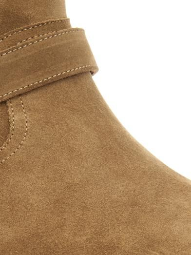 Saint Laurent Shearling-lined suede ankle boots