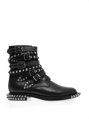 Rangers studded punk leather boots